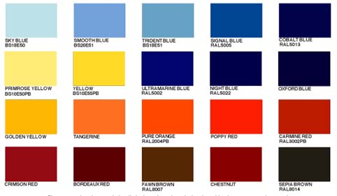 40 standard grp flat roof colours