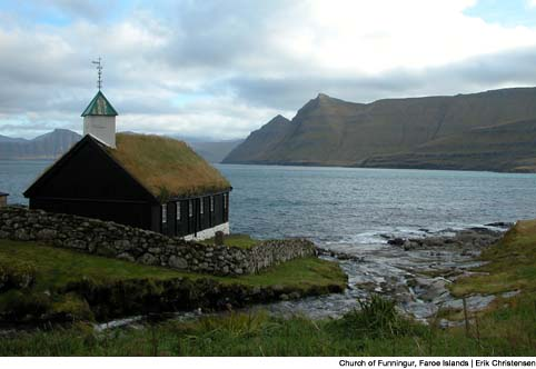 Faroe Islands turf roof