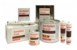 full range of roof adhesive . . .