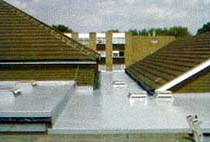 grp flat roof with flat roof windows