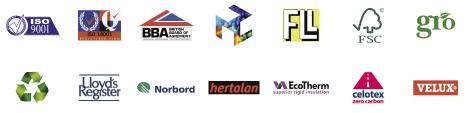best flat roof logos
